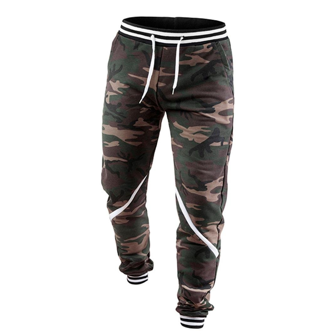 Pantalones Chándal hombre baratas , Amlaiworld Pantalones Largos Deportivos Chándal Algodón Fitness Joggings pantalones de camuflaje hombre Pantalón Jogging ...