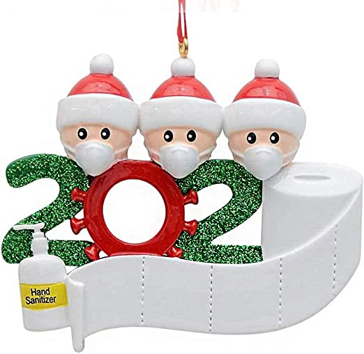 2020 Christmas Year Ornament Amazon.com: Hotme 2020 Christmas Ornaments Quarantine Family with