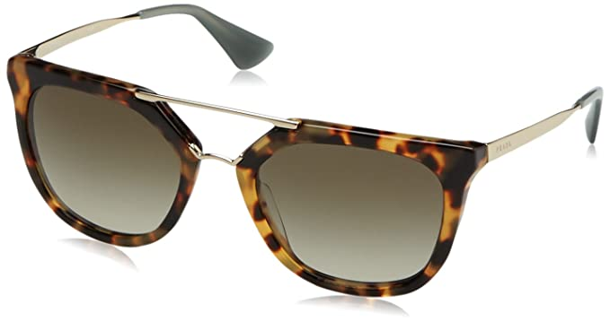 dd86a554c6fc Image Unavailable. Image not available for. Color  Prada PR13QS 7S04M1  Medium Havana Cinema Round Sunglasses Lens Category 3 Size