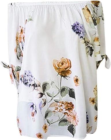 FAMILIZO Camisetas Mujer Verano Blusa Elegante Fiesta ...
