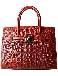 Women Purses And Handbags Crocodile Top Handle Satchel Bags Designer Padlock Handbags (9016)
