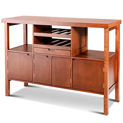 Amazoncom Wooden Table Storage Cabinet Sideboard Dining Buffet
