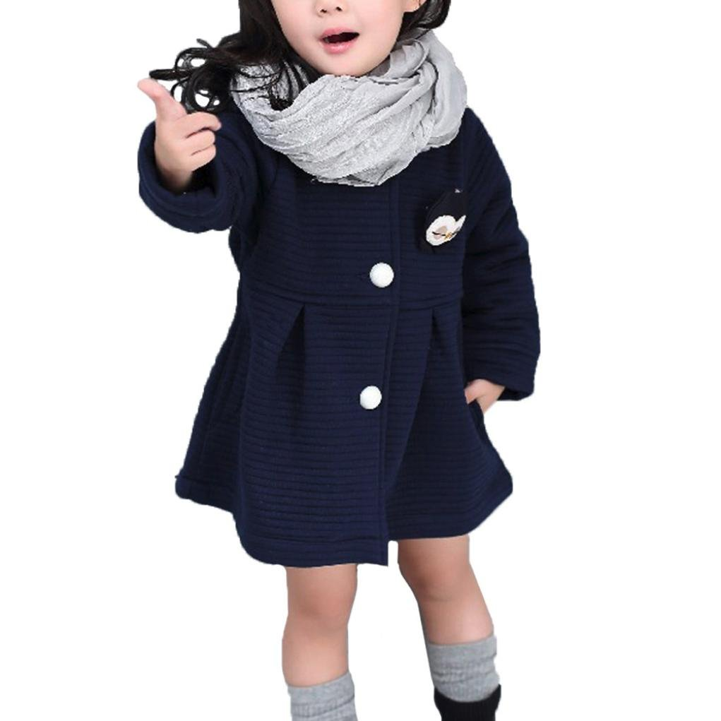 Tenworld Cute Toddler Little Girls Winter Jacket Coat Windbreaker Outwear