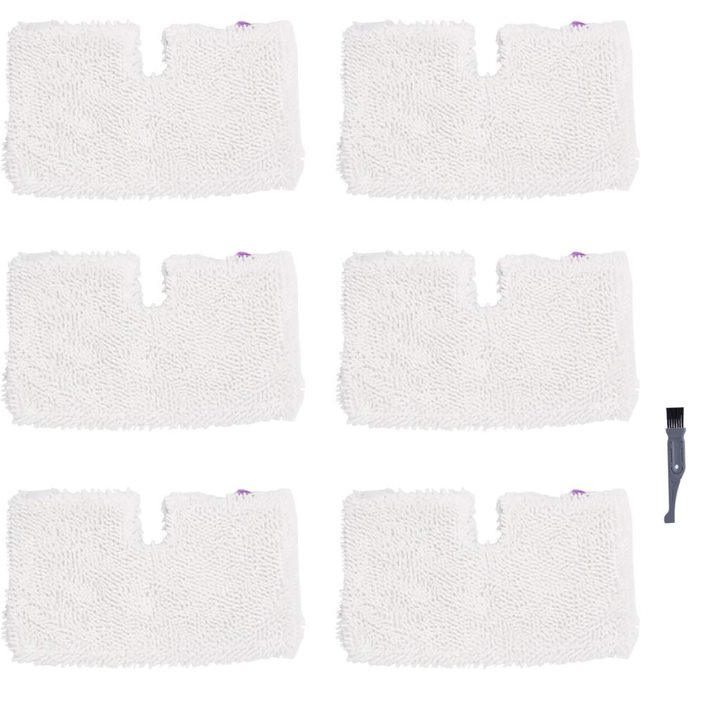 I clean Replacement Shark S3601 Steam Mops, 6Packs Pocket Microfiber Pads for Shark S3500 Series S3501 S3550 S3901 S3801 SE450 Lift Away Professional Vacuum Cleaners by I clean