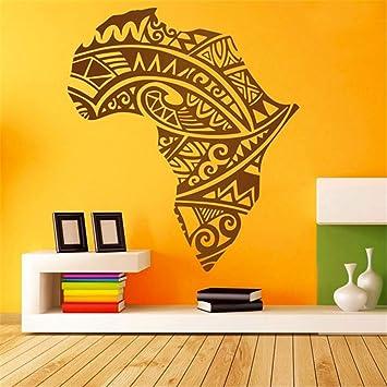 pegatinas de pared bebe Tatuaje tribal de silueta africana para ...