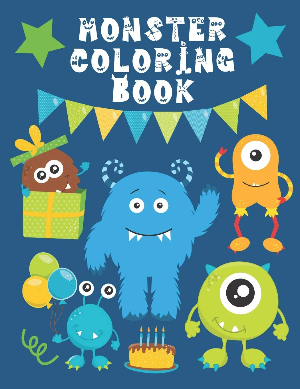 Monster Coloring Book Funny Cute Little Monsters Easy Fun Color Pages For Kids Creative Coloring Books Pages For Kids Kids Purple Press 9781655743016 Amazon Com Books