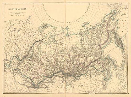 Asia Map Siberia.Amazon Com Russia In Asia Siberia Weller C1865 Old Map