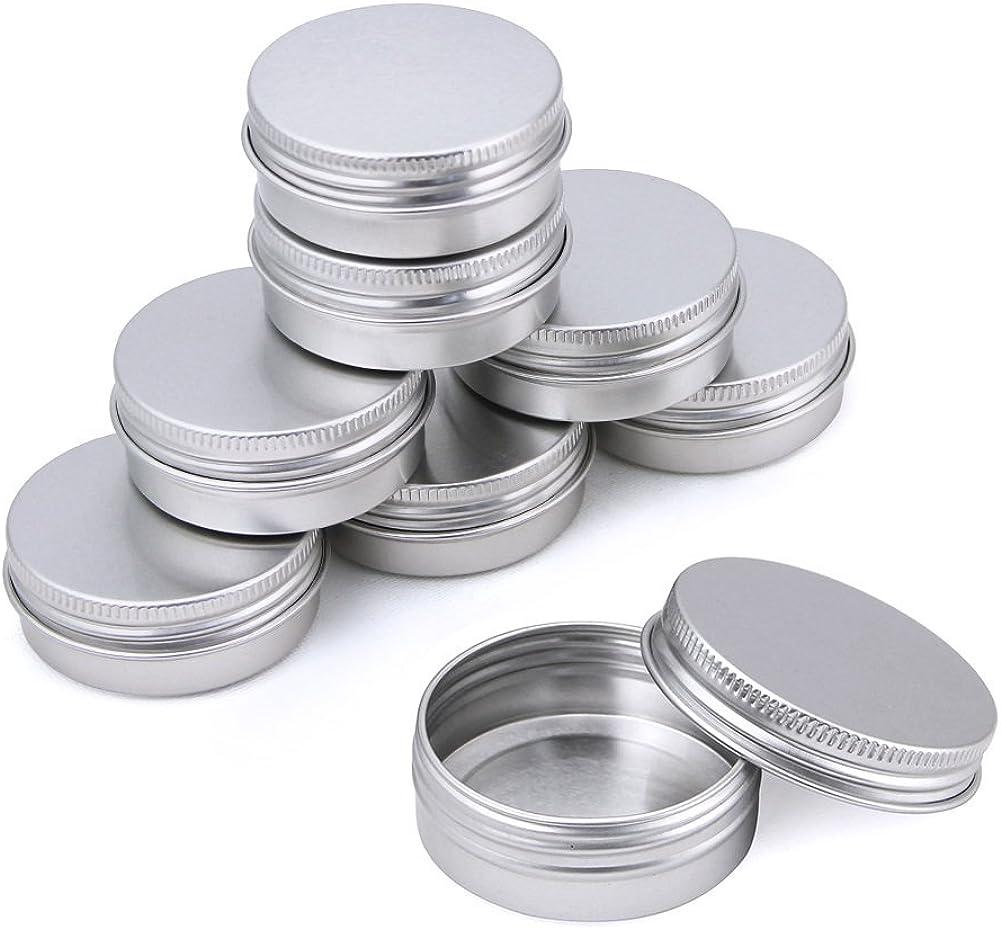 Kbnian Latas de Aluminio Vacias 30pcs 30ml, Tarros Cosmetica, Tarros Aluminio Vacíos, Ideales para todo los viajes, para guardar Cosmetica/Balsamos/Objetos Pequeños