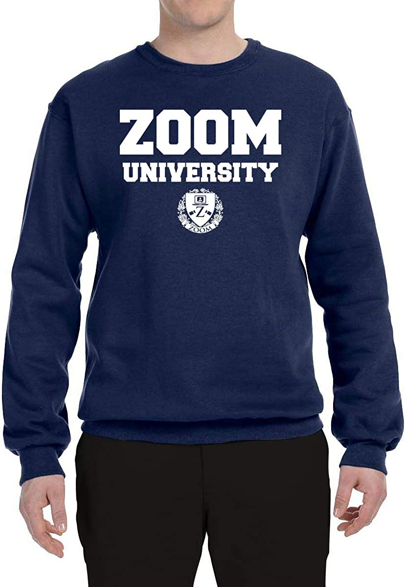 Wild Bobby Zoom University Quarantine Class of 2020 Education Home School Mens Crewneck Graphic Sweatshirt