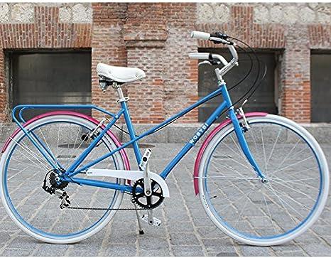 wobybi bicicleta urbana New Triana Ardilla, con 6 marchas de Shimano. Talla M. Color Azurro: Amazon.es: Deportes y aire libre