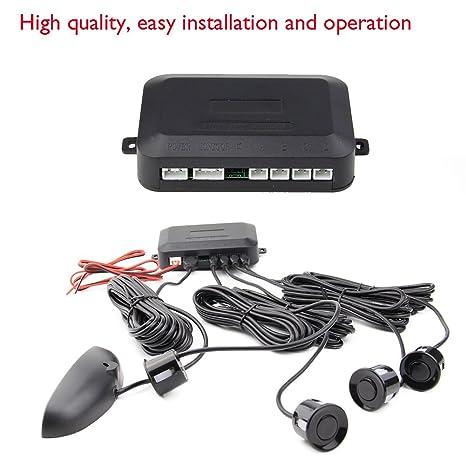 venta caliente coche de los sensores de radar de alerta aparcamiento marcha atrš¢s Negro sistema de 4 sensores de estacionamiento: Amazon.es: Electrónica