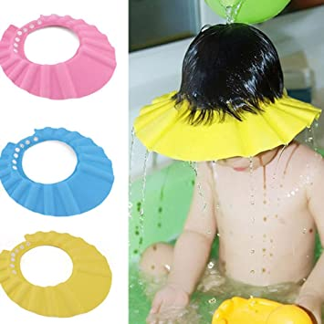 def3b573e54320 Fashion Galerie baby Baden Hut Schampoo Dusche Wasser schützen Mütze super  weiche Kappe Hut für Baby Kinder-Pink-  Amazon.de  Beauty