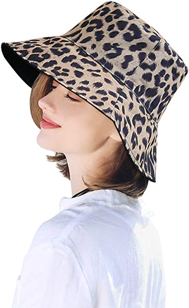 Packable Sun Hat Travel Reversible Bucket Hat Wide Brim Fishing Cap Floppy