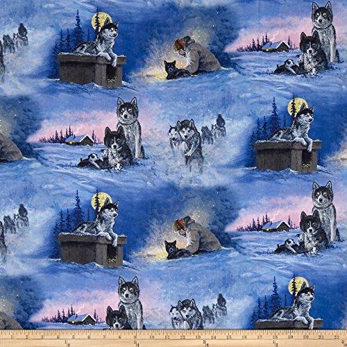 P & B Textiles Collection Of Alaska'S Artist Jon Van Zyle Allover Blue Fabric By The Yard -  26786-4743-BLU1