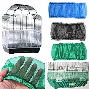 kangql Cubierta de malla de nailon para jaula de pájaros con ...