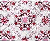 KESS InHouse Anneline Sophia ''Let's Dance Red'' Pink Floral Fleece Baby Blanket, 40'' x 30''