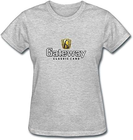 XIULUAN - Camiseta de Manga Corta para Mujer con Logotipo de Gateway Classic Cars