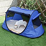 "Petsfit Indoor Outdoor Cat Enclosure Portable Tent For Yard Balcony Deck 52""x32""x23""(LxWxH)"