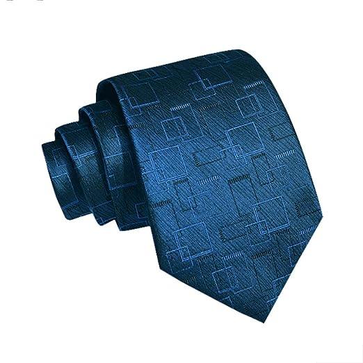 YXN Corbata para Hombre/Patrón geométrico de Guinga/Traje Formal ...