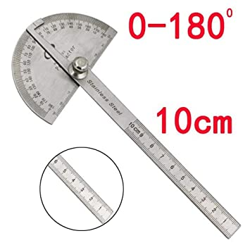 Multifunktional Edelstahl 180 Grad Winkel 10 Cm Messung Winkelmesser