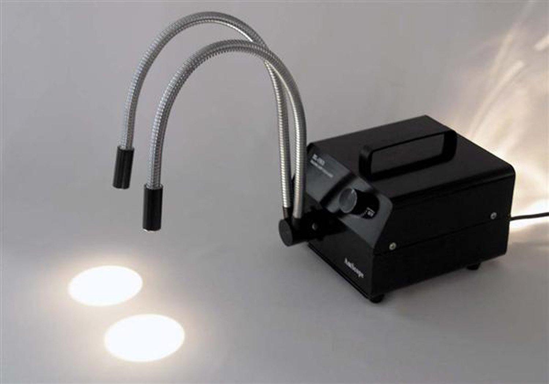 Amscope 150w Dual Gooseneck Fiber Optic Microscope Temporary Led Lamp Illuminator Electronics