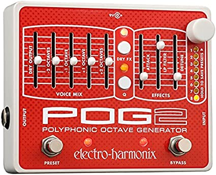 Electro-Harmonix EHX Micro Pog Polyphonic Octave Generator Effects Pedal!