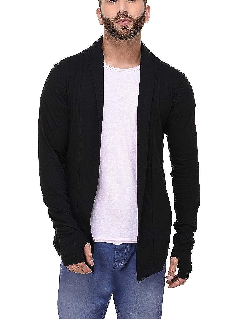 DENIMHOLIC Open Long Cardigan Full Sleeve Shrug for Men