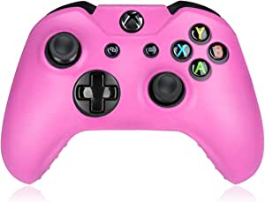 Flexible Silicone Protective Case skin For Xbox One Game Controller Console(Pink)
