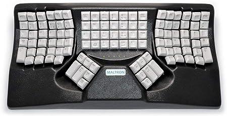 maltron, Original, ergonómico teclado negro USB de dos manos