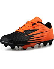 Hawkwell Kids Athletic Outdoor Comfortable Soccer Shoes(Toddler/Little Kid/Big Kid)