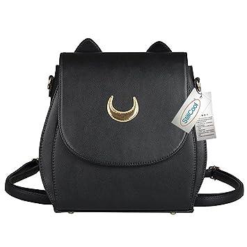 StillCool® PU Leather Cat Shape Chain Backpack Cosplay Moon Mark Women  Girls Handbag Shoulder Bag 434bf66fabb3f