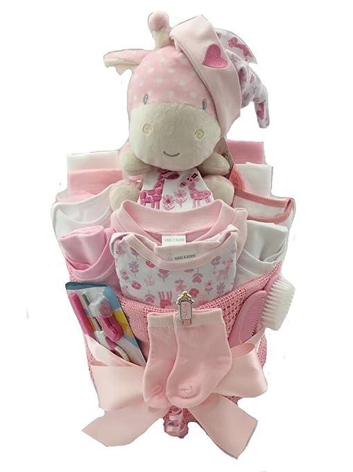 Bebé niña elefante Pañales Pastel Bebé Regalo Baby Shower