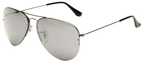 2bd9e75f7c2 Image Unavailable. Image not available for. Colour  Ray-Ban AVIATOR FLIP OUT  - GUNMETAL Frame GREY ...