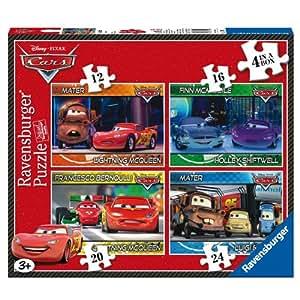 Ravensburger 12 16 20 24 Disney Cars - Puzzles (4 unidades, 12, 16, 20 y 24 piezas)