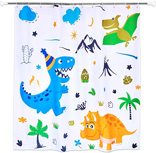 """WERNNSAI Flamingo Bathroom Shower Curtain 71/"""" /× 71/"""" Polyester Fabric Tropical Leaves Flowers Pineapple Pattern Home Decors Curtains with Plastic Hooks"""