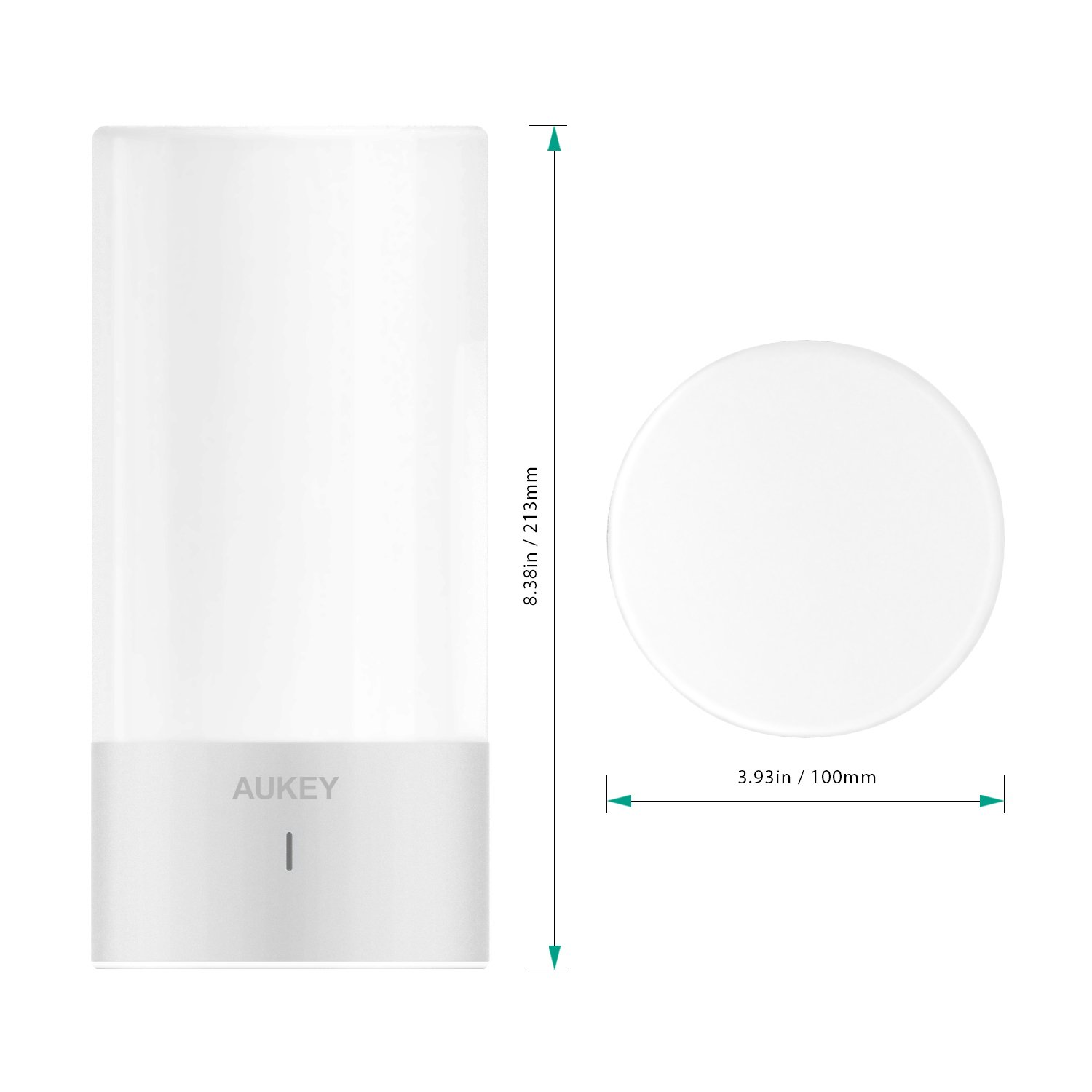 AUKEY Table Lamp, Touch Sensor Bedside Lamps + Dimmable Warm White Light & Color Changing RGB for Bedrooms by AUKEY (Image #7)