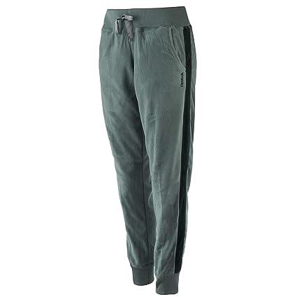 8f700acad6274d Amazon.com: Reebok Women's Polar Fleece Striped Jogger Pants Dim ...