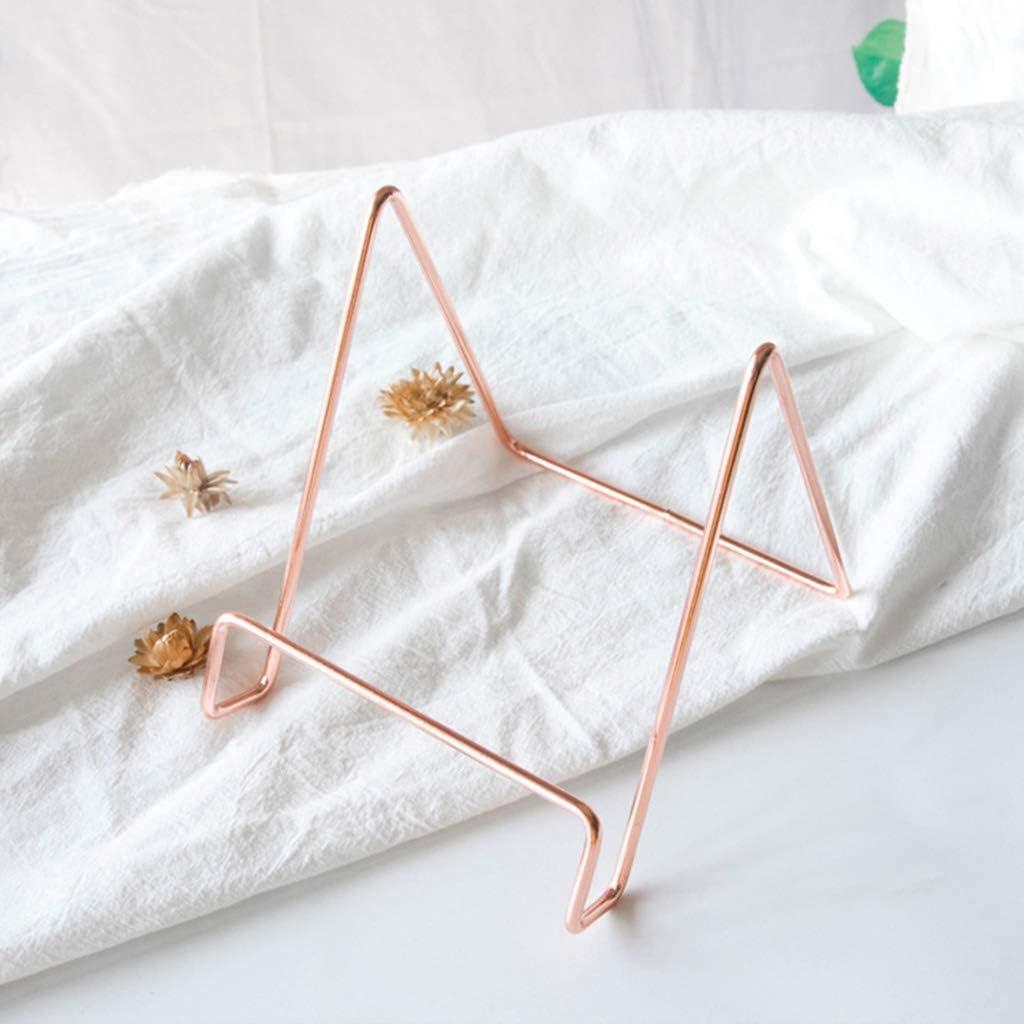 Kreative Geometrische Lagerregal Book Stand Holder Einfache Schmiedeeisen Organizer Buchst/ützen Buchhalter Rutschfest Kratzfest Organisation Von B/üchern Zeitschriften CDs Usw
