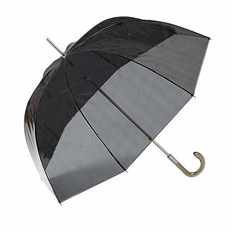 Paraguas largo transparente