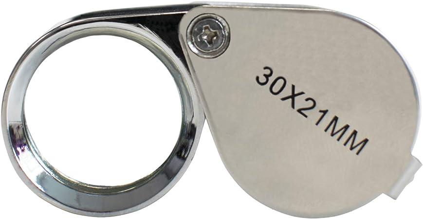 ingranditore per Hobby HJTLK Lente dIngrandimento in Vetro Lente dIngrandimento in Alluminio avanzata LED 30X