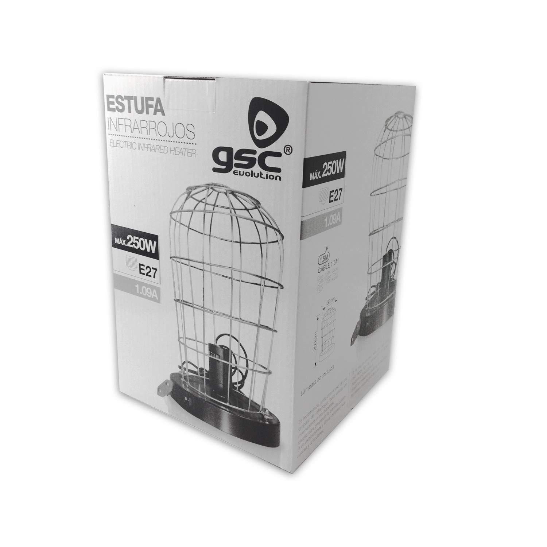 Estufa Jaula para Lámpara de Infrarrojos - Cable de 1,5m - Compatible para Mesa Camilla: Amazon.es: Bricolaje y herramientas