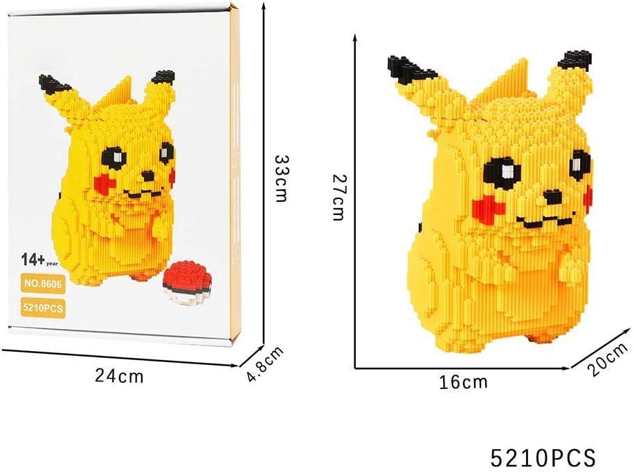Pikachu Jouets LNLJ Diamant Micro Block Set Convient Aux Enfants Puzzle 3D Bricolage Jouet /Éducatif Collectionneurs Et Amateurs De Pok/émon