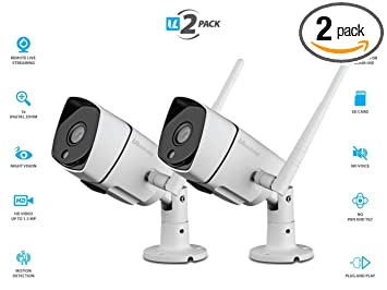 Amazon.com: vimtag® B1 [2 Pack] Color Blanco Outdoor Camera ...