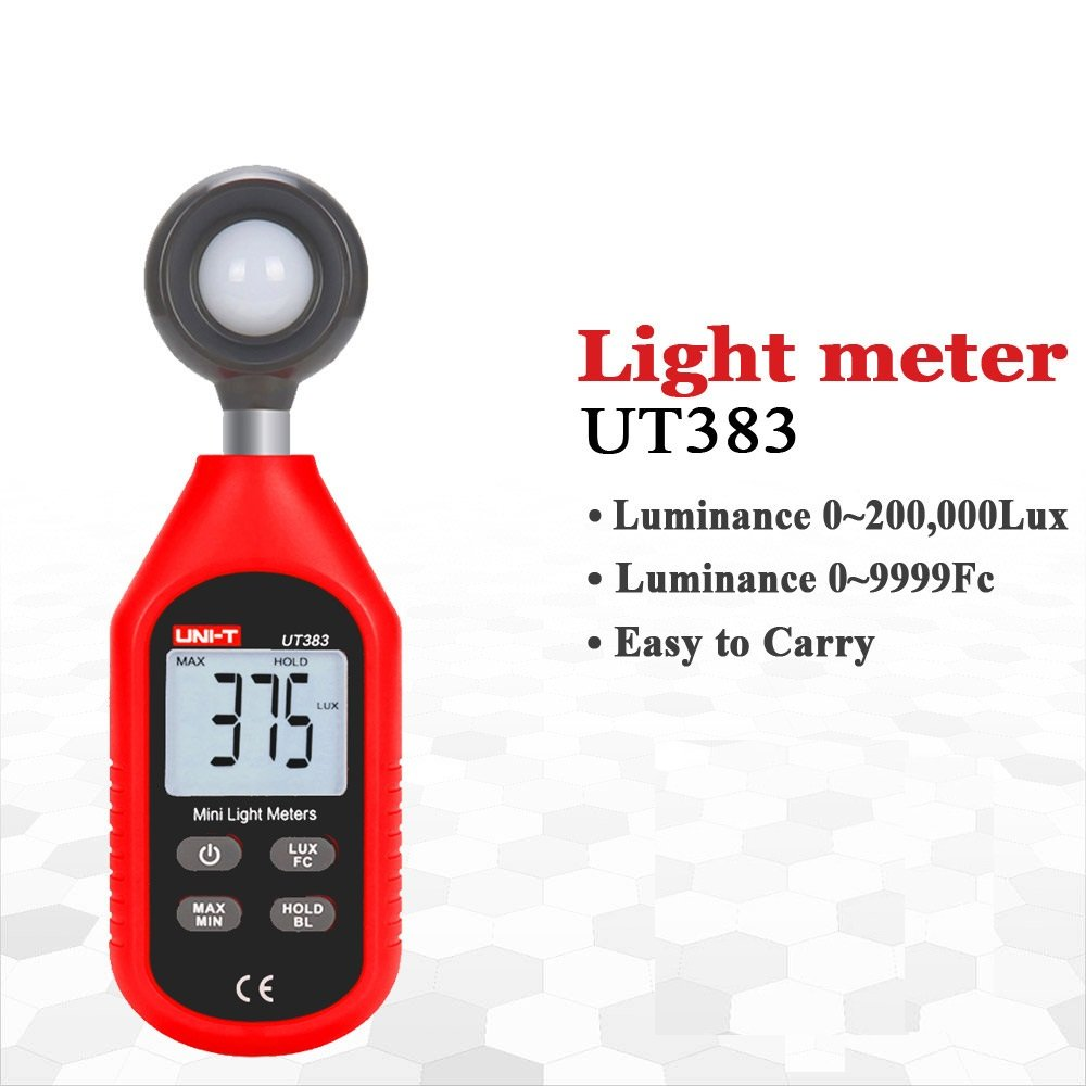 Amicisense Uni T Ut383 Mini Digital Luminometer Photometer Luxmeter Light Meter 0 199999 Lux With 3xaaa Battery Amazon In Industrial Scientific
