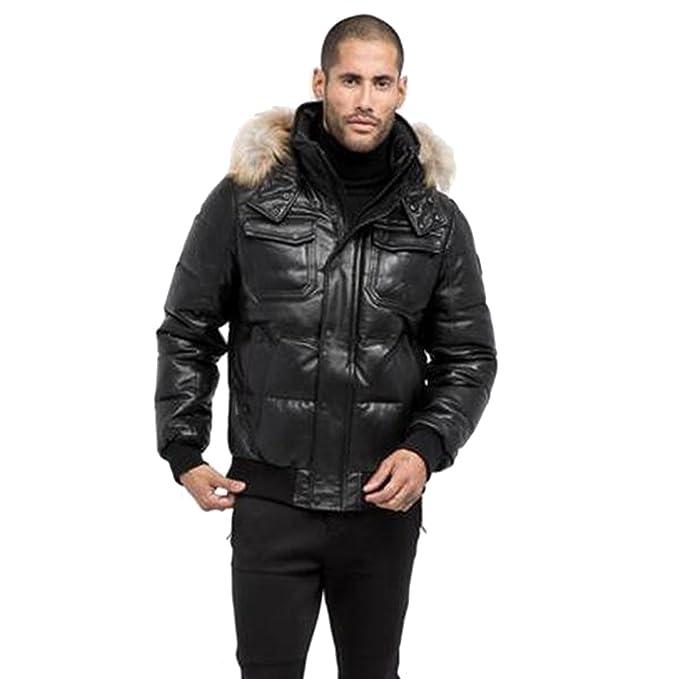 2b5d99903e Men's Rudsak Viper Coat - Black/Natural Fur (S): Amazon.ca: Clothing ...