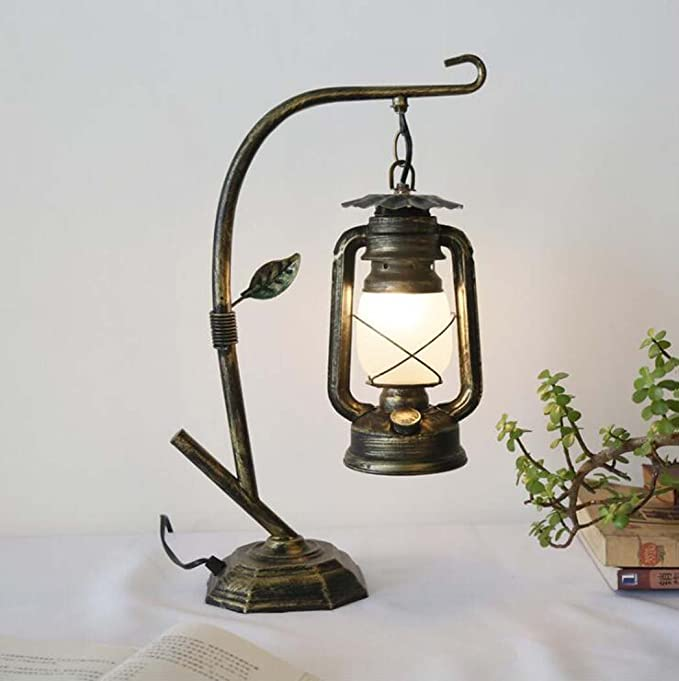 Amazon.com: Vintage Desk Lamp Kerosene Lamp Lantern ...