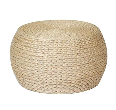 Amazon.com: Round Straw Rattan Weave Stool Office and Family ...