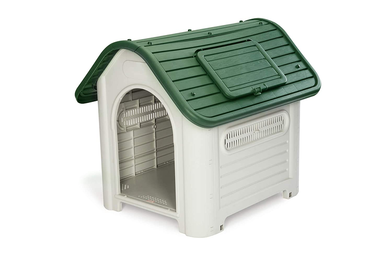 GARDIUN Caseta de Perro Dakota Resina Beige/Verde 72x87x75 cm - KZT1007: Amazon.es: Jardín