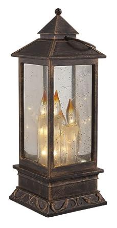 Led Laterne Mit Beleuchtung Kerzen Tischleuchte 3d Effekt Batterie
