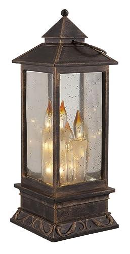 de de mesa con 3d velas Farol LED Lámpara efecto iluminación kuTwOPiZX